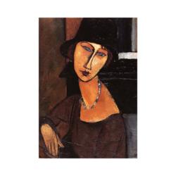 Amedeo Modigliani Şapka ve Kadın Çizilmiş boyamaya hazır Tuval