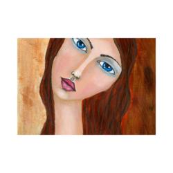 Amedeo Modigliani Aşk Çizilmiş Boyamaya hazır Tuval