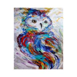 Baykuş Çizilmiş Boyamaya Hazır Tuval