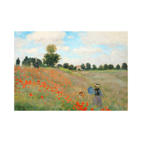 Claude Monet Argenteuil de haşhaş tarlası boyamaya hazır tuval