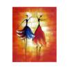 Dans Eden Kadınlar Çizilmiş Boyamaya Hazır vTuval