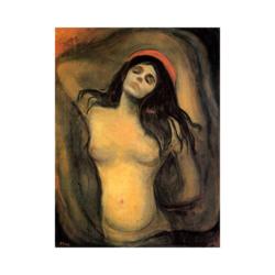 Edvard Munch Meryem boyamaya hazır tuval
