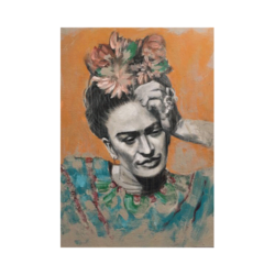 Frida Kahlo Portre çizilmiş boyamaya hazır tuval