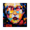 Gözlüklü Kadın Çizilmiş Boyamaya Hazır Tuval