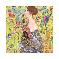 Gustav Klimt Lady ve Fan Boyamaya Hazır Çizilmiş Tuval