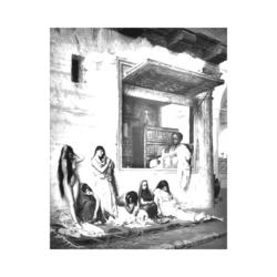 Köle Pazarı Çizilmiş Tuval