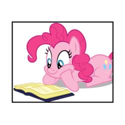 Kitap Okuyan Pinkie Pie Çizilmiş Boyamaya Hazır Tuval