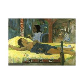 Paul Gauguin Hasta Kadın boyamaya hazır Tuval