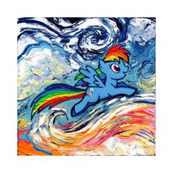 Rainbow Dash Çizilmiş Bpyamaya Hazir Tuval