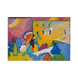 Wassily Kandinsky Şovalye Çizilmiş Boyamaya Hazır Tuval