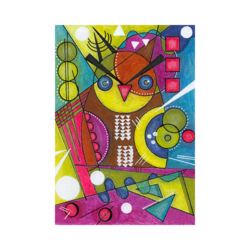 Wassily Kandinsky Baykuş Çizilmiş Boyamaya Hazır Tuval
