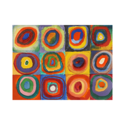 Wassily Kandinsky Bulmaca Çizilmiş Boyamaya Hazır Tuval
