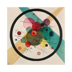 Wassily Kandinsky Daire İçerisinde Daire Çizilmiş Boyamamaya Hazır Tuval