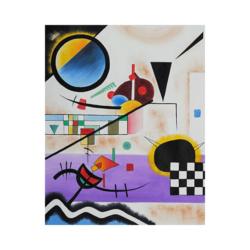 Wassily Kandinsky Karşı Sesler Çizilmiş Boyamaya Hazır Tuval