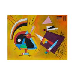 Wassily Kandinsky Siyah ve Mor Çizilmiş boyamaya hazır Tuval