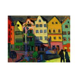 Wassily Kandinsky Weilheim Marienplatz Çizilmiş Boyamaya Hazır Tuval