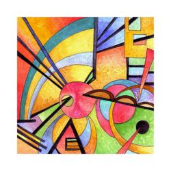 Wassily Kandinsky Yaratıcı Çizilmiş Boyamaya Hazır Tuval