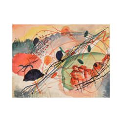 Wassily Kandinsky Yaz Özeti Çizilmiş Boyamaya Hazır Tuval