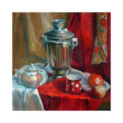 beş çayı boyamaya hazır tuval