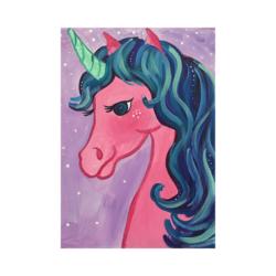bebek pony boyamaya hazır tuval