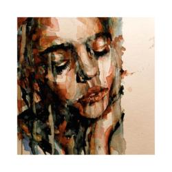 düşüncelere dalan portre boyamaya hazır tuval