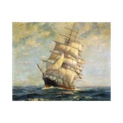 dalgalı denizde gemi boyamaya hazır tuval