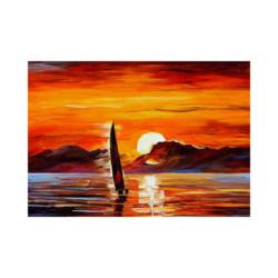kızıl denizde yelkenli boyamaya hazır tuval