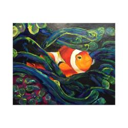 kayıp balık Nemo çizilmiş boyamaya hazır tuval