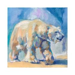 kutup ayısı boyamaya hazır tuval