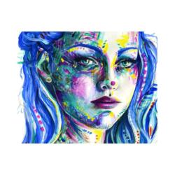 palyaço portresi çizilmiş boyamaya hazır tuval