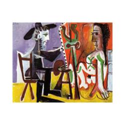 Picasso Ressam ve Modeli Boyamaya Hazır Tuval