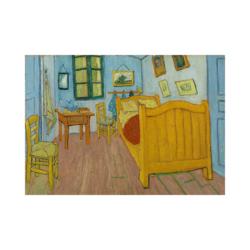 van gogh yatak odası boyamaya hazir tuval