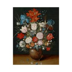 Vazodaki Çiçekler Boyamaya Hazır Tuval