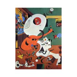 Joan Miró Hollanda İç Mekan Çizilmiş Boyamaya Hazır Tuval