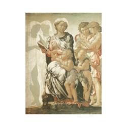 Michelangelo Bakire ve Çocuklar Çizilmiş Boyamaya Hazır Tuval