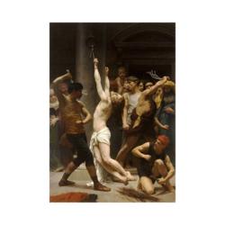 William Adolphe İsa Peygamberin Kırbaçlanması Çizilmiş Boyamaya Hazır Tuval