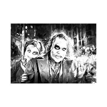 Joker ve Harley Quinn yetişkin boyama tuval