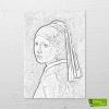 İnci Küpeli Kız boyamaya hazır resim tuvali